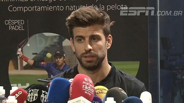 Piqué destaca triplete com Luis Enrique e evolução do Barça: 'Vínhamos de uma m**** absoluta!'