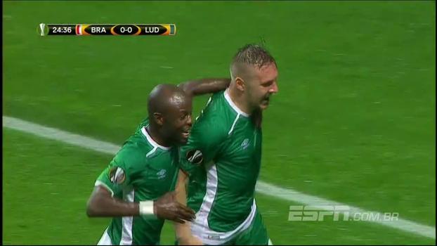 Em jogo com 11 brasileiros e gol contra estranho, Ludogorets vence Braga em Portugal e vira líder