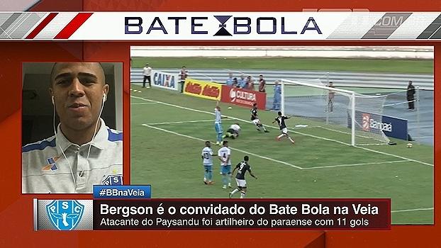 Artilheiro e campeão do Paraense, Bergson participou do Bate Bola na Veia; veja
