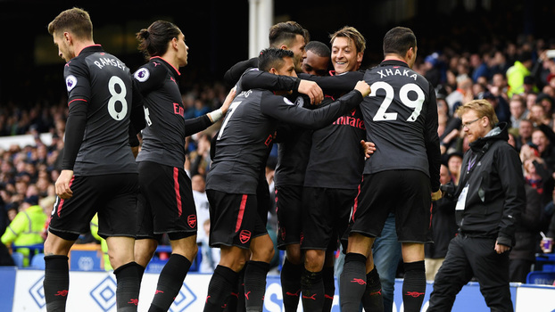 Premier League: Gols de Everton 2 x 5 Arsenal