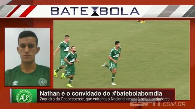 Nathan comenta título da Chapecoense e fala sobre a importância do Palmeiras na carreira