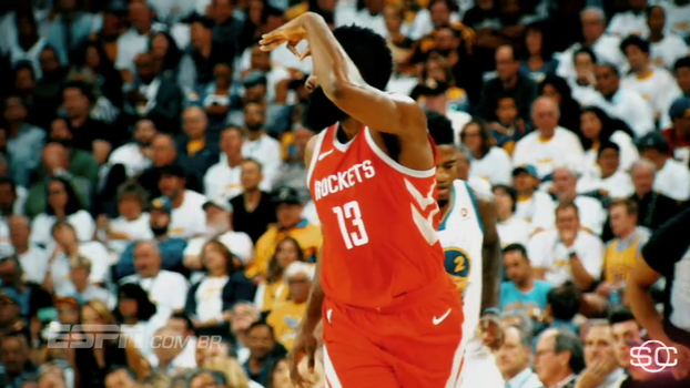 Entre as pernas, 'step-back' e mais; veja lances característicos de Harden, que joga para ser MVP