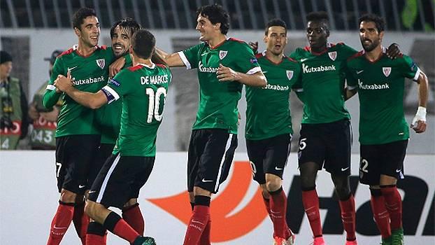 Ex-Atlético de Madri marca, Bilbao vence o Partizan e divide a ponta do grupo