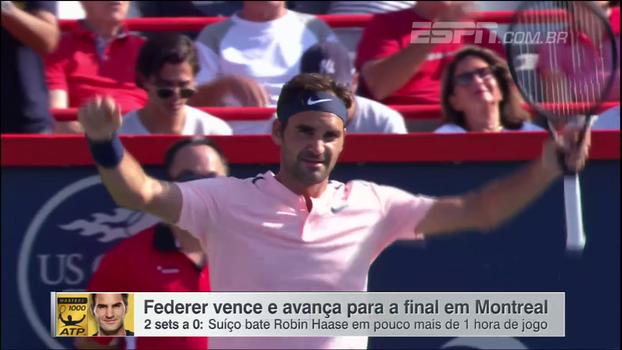 Masters 1000 de Montreal: lances de Roger Federer 2 x 0 Robin Haase