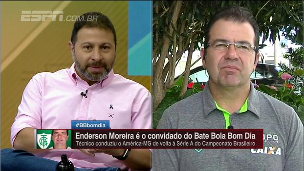 Enderson Moreira cita seu caminho no América-MG até se tornar técnico: 'Conheço muito bem qual a realidade do clube'