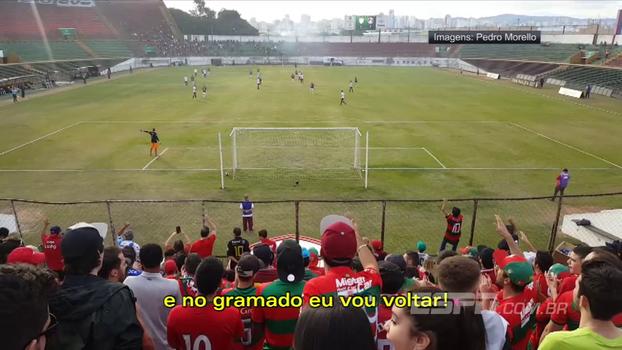 Em música, torcida da Portuguesa cita tapetão, xinga federação e promete: 'A Lusa não vai acabar'
