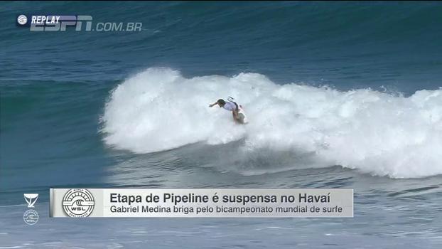 Etapa de Pipeline volta, mas é suspensa novamente em bateria de Medina: tudo sobre o dia no Havaí