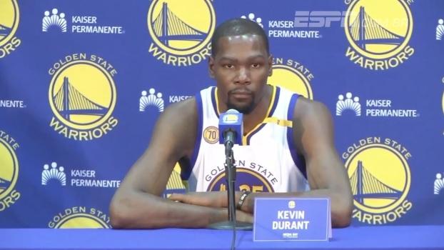 Durant diz que precisará de tempo, mas quer deixar 'sua marca' no time dos Warriors