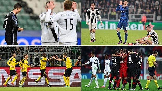 Com tropeços dos gigantes, confira os resultados da Champions League nesta quarta-feira
