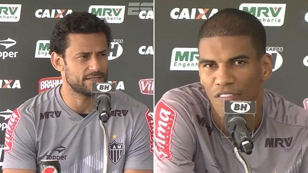 Fred e Léo Silva destacam evolução do Atlético Mineiro e valorizam liderança