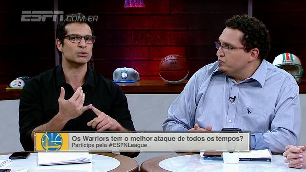 Aproveitamento surreal do Golden State Warriors é tema de debate no 'ESPN League'
