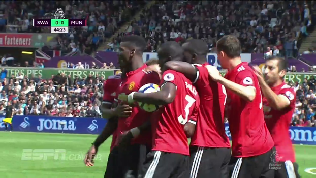 Premier League: Gols de Swansea 0 x 4 Manchester United