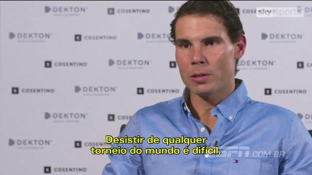Rafael Nadal: 'Fiz o que tinha que fazer para tentar estar preparado para o ATP Finals'