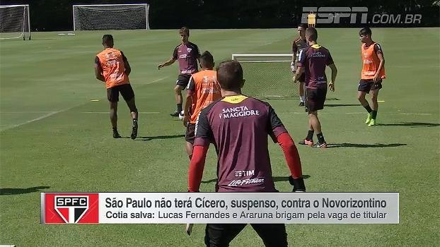 São Paulo se prepara para jogo contra Novorizontino com disputa de jovens por vaga entre titulares