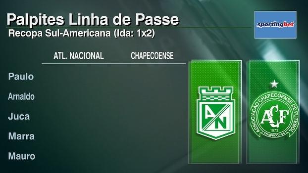 Atlético Nacional x Chapecoense: veja os palpites do 'Linha de Passe' para a Recopa Sul-Americana
