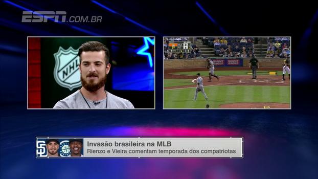 Rienzo fala sobre relação próxima com Thyago Vieira e 'invasão brasileira' na MLB