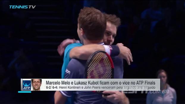 ATP Finals (final): Lances de Kontinen/Peers 2 x 0 Melo/Kubot