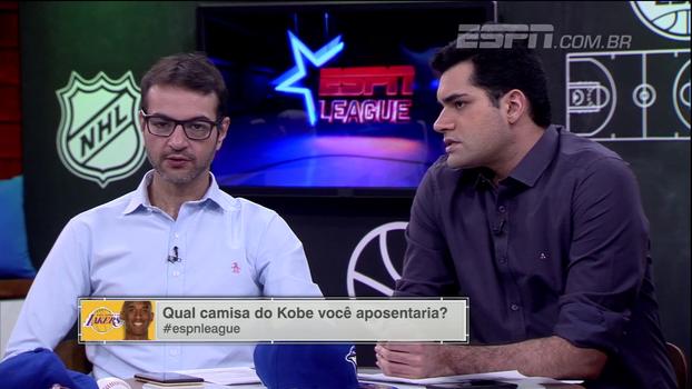 Escolha uma: qual camisa de Kobe Bryant você aposentaria? ESPN League debate!