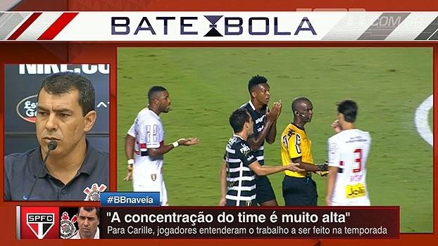 Carille parabeniza Rodrigo Caio por 'fair play': 'Vou procurá-lo para um abraço'
