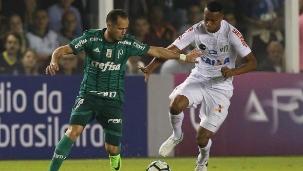 Pressão no fim, mas vitória garantida: veja como foi o triunfo do Santos sobre o Palmeiras