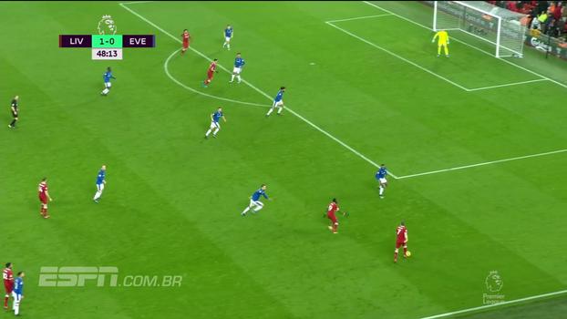 Tempo real: Milner cruza na medida para Salah, que cabeceia para fora, muito perto da trave