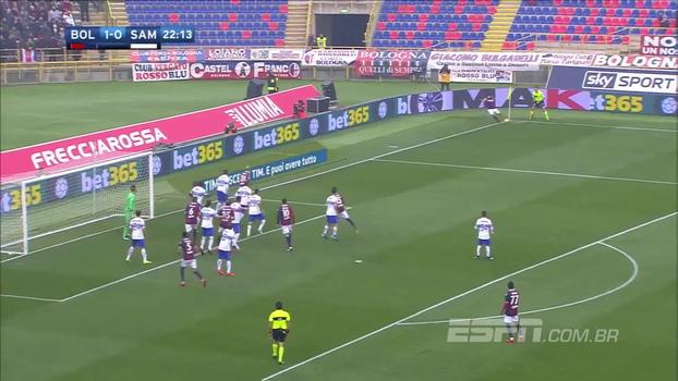 Mesmo com um homem a menos no 2º tempo, Bologna atropela Sampdoria; veja os gols