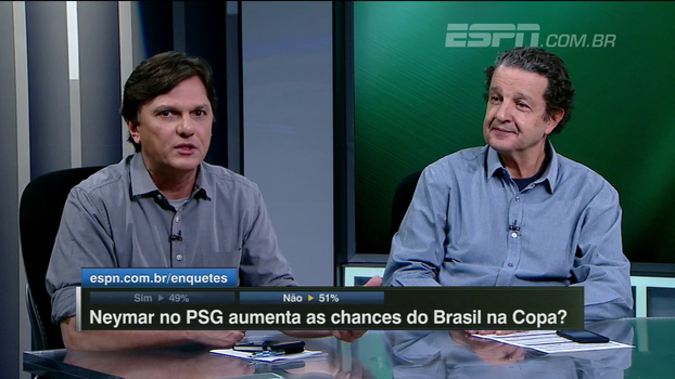 Para Mauro, nível do Francês não desafia Neymar: 'Em campo, ele sente que está muito acima do que está ao seu redor'