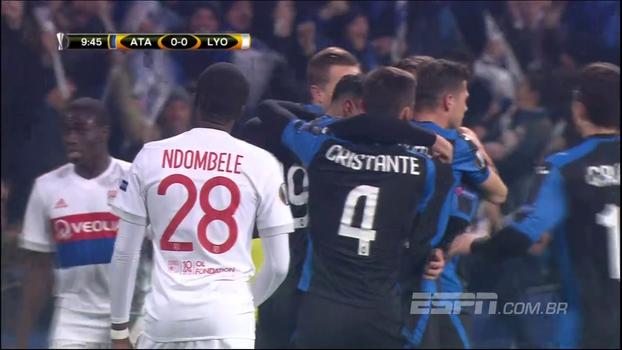 Atalanta vence Lyon e termina na liderança do grupo E da Europa League; veja o gol