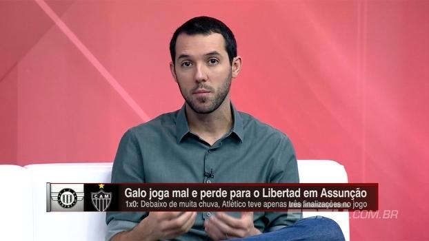 Hofman vê Atlético-MG abatido em 1º tempo contra Libertad e diz: 'Faltou criação'