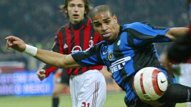 Em jogo recheado de craques, Adriano 'Imperador' fez dois e Internazionale bateu Milan em 2005