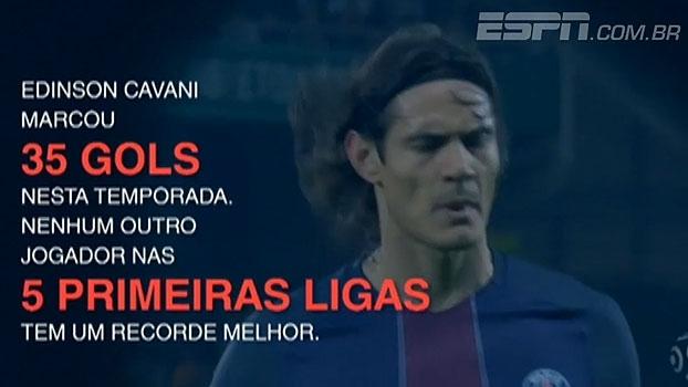 Cavani goleador! Veja os números da melhor temporada da carreira do uruguaio