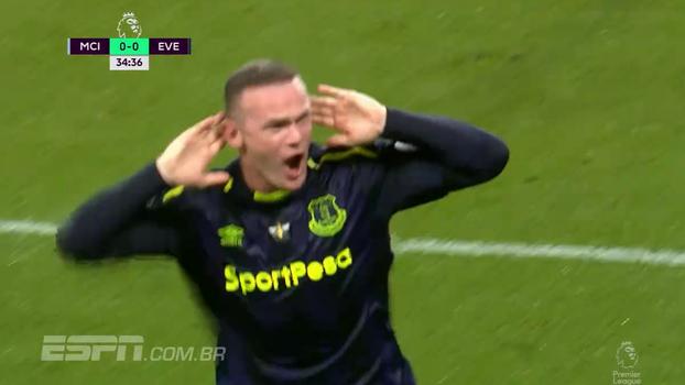 Tempo real: GOL DO EVERTON! Rooney marca seu gol de nº 200 na Premier League contra o eterno rival Man. City