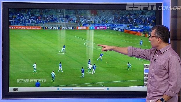 Com o DataESPN, Calçade aponta movimentação do Palmeiras no gol contra o Cruzeiro