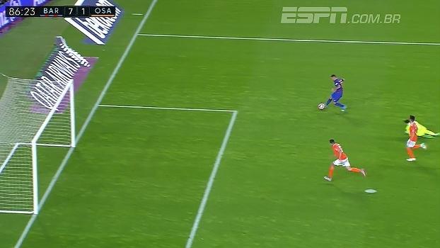 Tempo real: GOL do Barcelona! Paco Alcácer recebe, dribla o goleiro e faz o sétimo do Barça