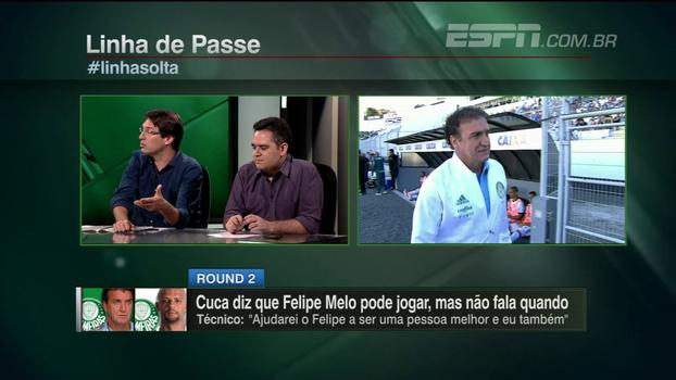 Arnaldo desaprova frase de Cuca sobre fazer de Felipe Melo uma pessoa melhor: 'É um desastre atrás do outro'