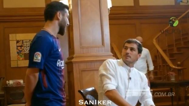 Em brincadeira de canal de TV, Casillas é surpreendido por sósia de Messi