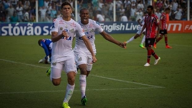 Cofnira os gols da vitória por 2 a 0 do Santos sobre o Botafogo-SP