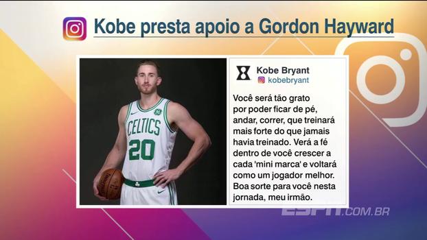 Everaldo Marques lê texto emocionante de Kobe Bryant depois da lesão de Gordon Hayward