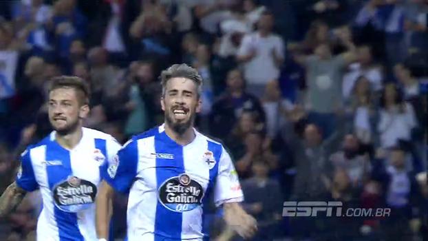 Assista aos melhores momentos da vitória do Deportivo La Coruña sobre o Alavés por 1 a 0!