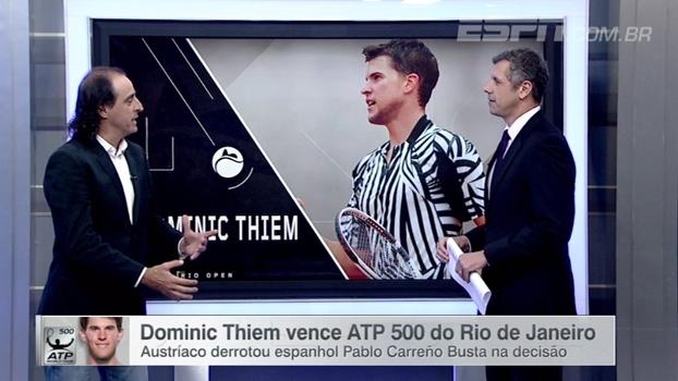 Meligeni analisa vitória de Thiem no ATP 500 do Rio de Janeiro: 'A bola dele anda demais'