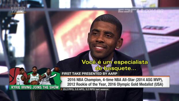 Durant alcançando LeBron? Kyrie foge de polêmica, mas diz que Kobe é seu jogador favorito da NBA