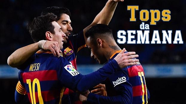 Barcelona 'destruidor', triunfo do Arsenal em 'jogo de vida ou morte', e herói da Juventus no Tops da Semana