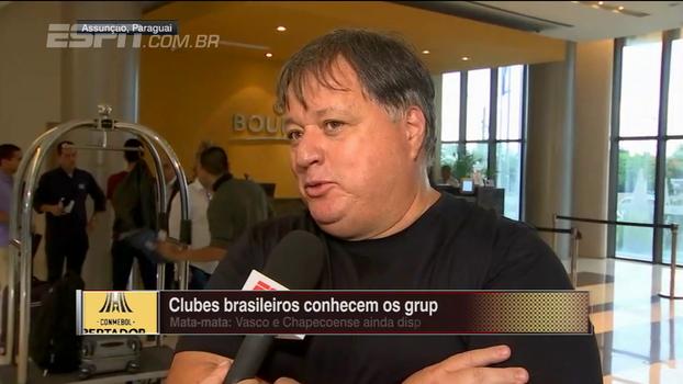 Gerente de futebol do Vasco fala sobre sorteio da Libertadores