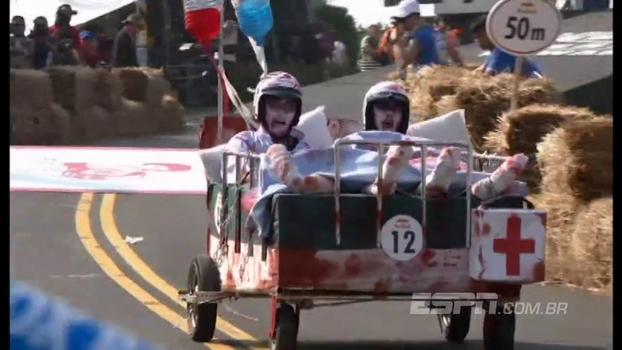 Com direito a Bob Esponja e hospital zumbi, veja a corrida maluca de carrinhos de rolimã em Taiwan