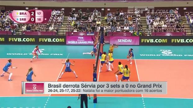 A reformulada seleção feminina de vôlei atropela a Sérvia e mira vitória contra a Tailândia; veja