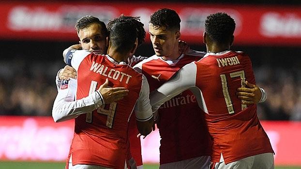 Copa da Inglaterra: Gols de Sutton United 0 x 2 Arsenal