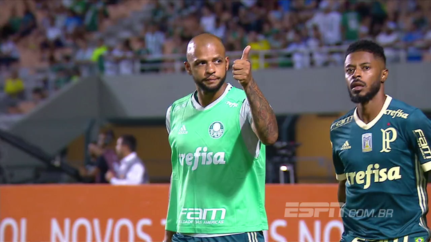 Noite do Palmeiras tem retorno de Felipe Melo, dois tempos bem distintos e reação do Bahia; veja como foi