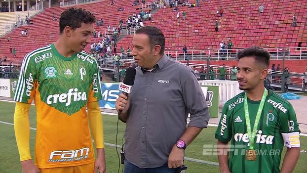 Destaques do título do Palmeiras no Sub-17, Lucas e Alanzinho comemoram e destacam: 'Tem gente que já sustenta família'