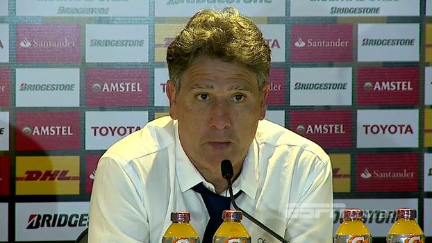 Renato Gaúcho diz que assistiu ao jogo do Lanús e minimiza derrota: 'O Grêmio está na final e ponto'