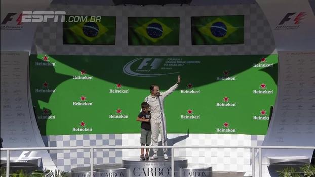Grande corrida, subida ao pódio e mensagem do filho no rádio: despedida de Massa abre o SportsCenter